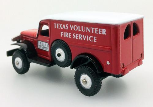 Corgi Fire Heroes Dodge WC54 4x4: Texas  Volunteer Forest Fire Service