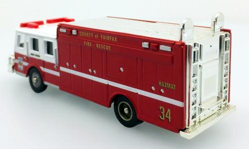 Corgi Fire Heroes E-One Cyclone Fire Rescue Truck: Fairfax County Fire Department, Virginia