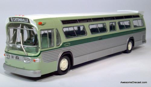 Corgi 1:50 GM Fishbowl Bus Baltimore Transit Company: Destination, Catonsville