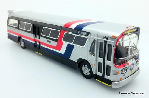 RARE!! Corgi 1:50 GM5300 Fishbowl Bus Chicago Transit Authority