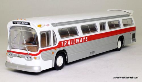 Corgi 1:50 GM 5302 Fishbowl Bus Trailways Bus Lines