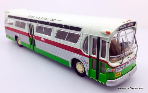 RARE!! Corgi 1:50 GM Fishbowl Bus: Green Bus Lines New York