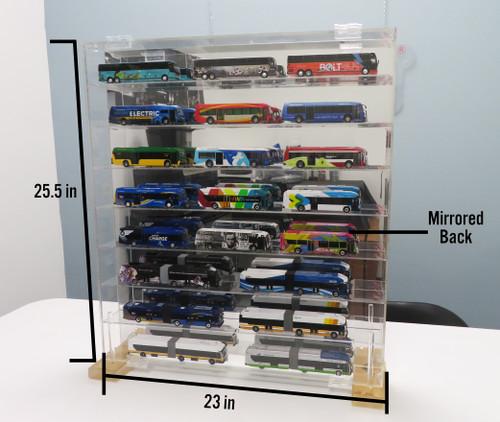 1:87 Model Bus Acrylic Mirrored Display Case