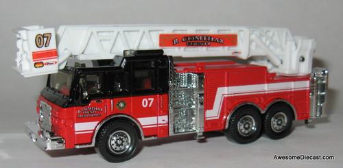 Matchbox Pierce Velocity Aerial Fire Truck: B. Comthax County Fire Department
