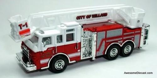 Matchbox Pierce Velocity Aerial Fire Truck: City Of Willard