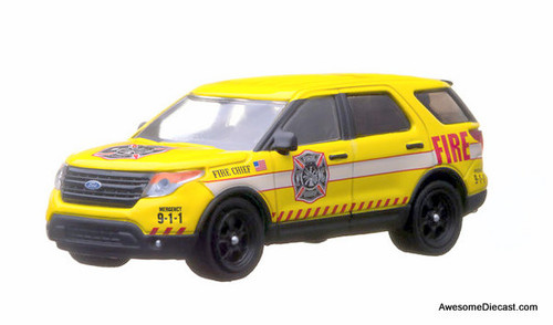 Greenlight 1:64 2013 Ford Police Interceptor Utility Vehicle: Fire Chief