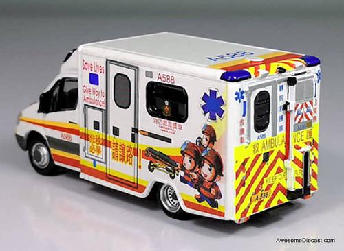 Tiny 1:43 Mercedes Benz Sprinter: Hong Kong Ambulance FSD