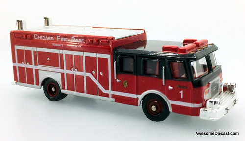 Corgi Fire Heroes  E-One Cyclone Fire Rescue Truck: Chicago Fire Department