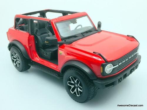 Maisto 1:18 2021 Ford Bronco Badlands, Red