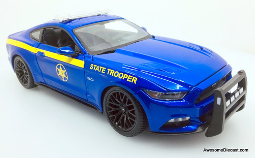 Maisto 1:18 2015 Ford Mustang GT: State Trooper