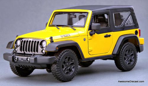 Maisto 1:18 2014 Jeep Wrangler, Yellow