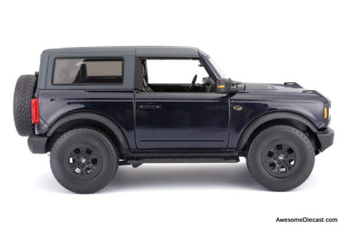 Maisto 1:18 2021 Ford Bronco Wildtrak, Dark Blue