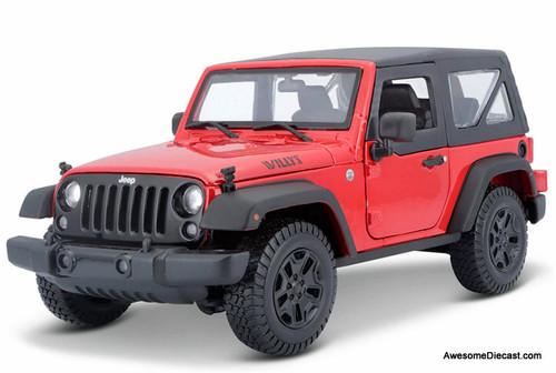 Maisto 1:18 2014 Jeep Wrangler, Red