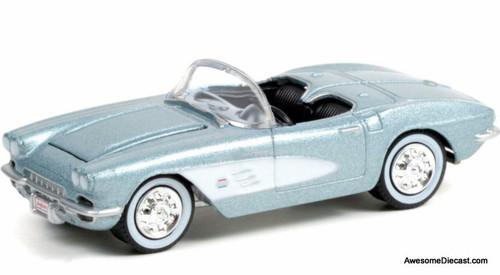 Greenlight 1:64 1961 Chevrolet Corvette Convertible, Saleen Silver