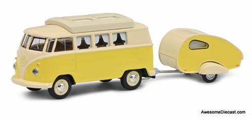 Schuco 1:64 Volkswagen T1 Camper Van w/Caravan