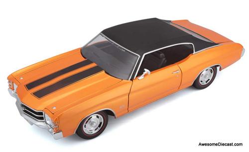 Maisto 1:18 1971 Chevrolet Chevelle SS 454 Sport Coupe, Metallic Orange