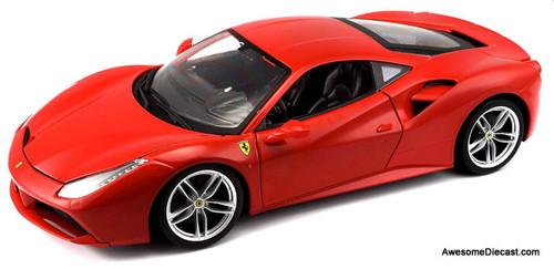Maisto 1:18 2016  Ferrari 488 GTB, Red