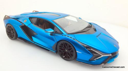 Maisto 1:18 2020 Lamborghini Sian FKP 37, Metallic Blue