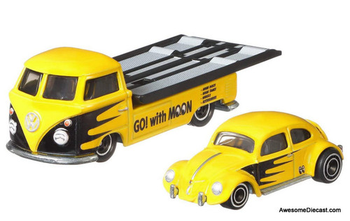 Hot Wheels 1:64 Volkswagen Transporter T1 Pick-Up w/Volkswagen Classic Bug