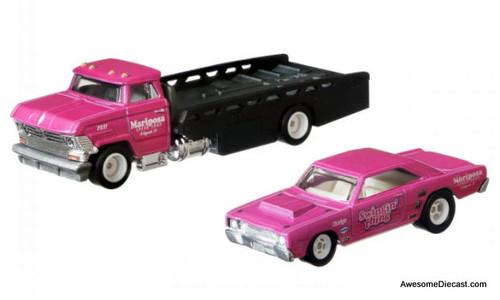 Hot Wheels 1:64 Horizon Hauler w/1968 Dodge Dart Race Car