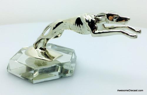 1:2 Chrome Greyhound Hood Ornament