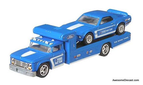 Hot wheels 1:64 Retro Rig w/1969 Ford Mustang Boss 302 Race Car
