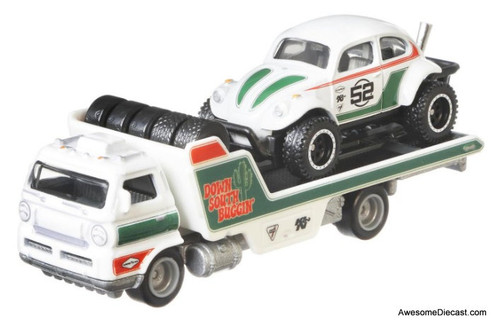 Hot Wheels 1:64 Car Hauler w/Volkswagen Baja Bug