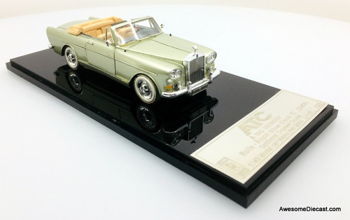 ATC 1:43 1963 Rolls Royce Silver Cloud 111 Continental Convertible, Olive Green