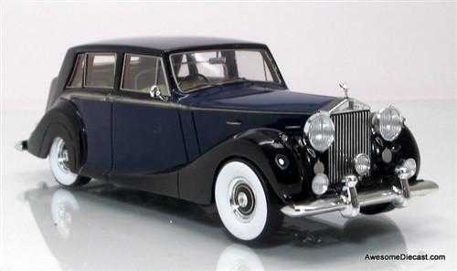 TSM 1:43 1952 Rolls Royce Silver Wraith Saloon: Blue / Black