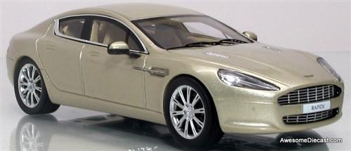 Minichamps 1:43 2010 Aston Martin Rapide Geneva: Silver Blonde
