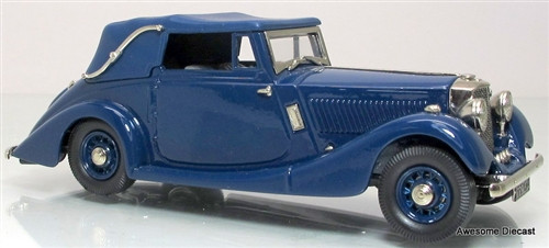 Lansdowne Models 1:43 1936 Railton, Fairmile 3 Position Drop Head Coupe (Blue)