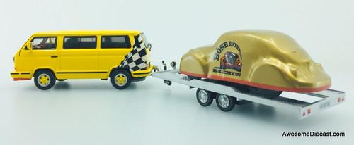 Premium ClassiXXs 1:43 Volkswagen T3B Mini Bus w/Car Trailer