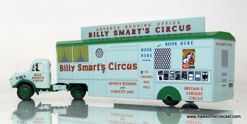 Oxford Diecast 1:76 Bedford OX w/ Mobile Booking Office Trailer: Billy Smart Circus