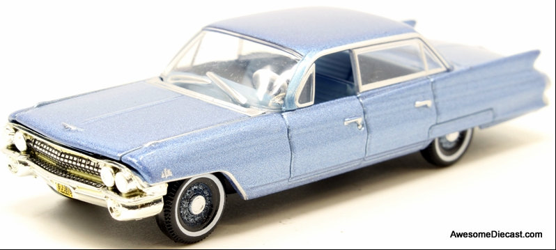 Oxford 1:87 1961 Cadillac Sedan Deville, Nautilus Blue