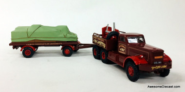 OXFORD DIECAST HAULAGE  TRUCK Container Trailer Plain Blue Container 1//76