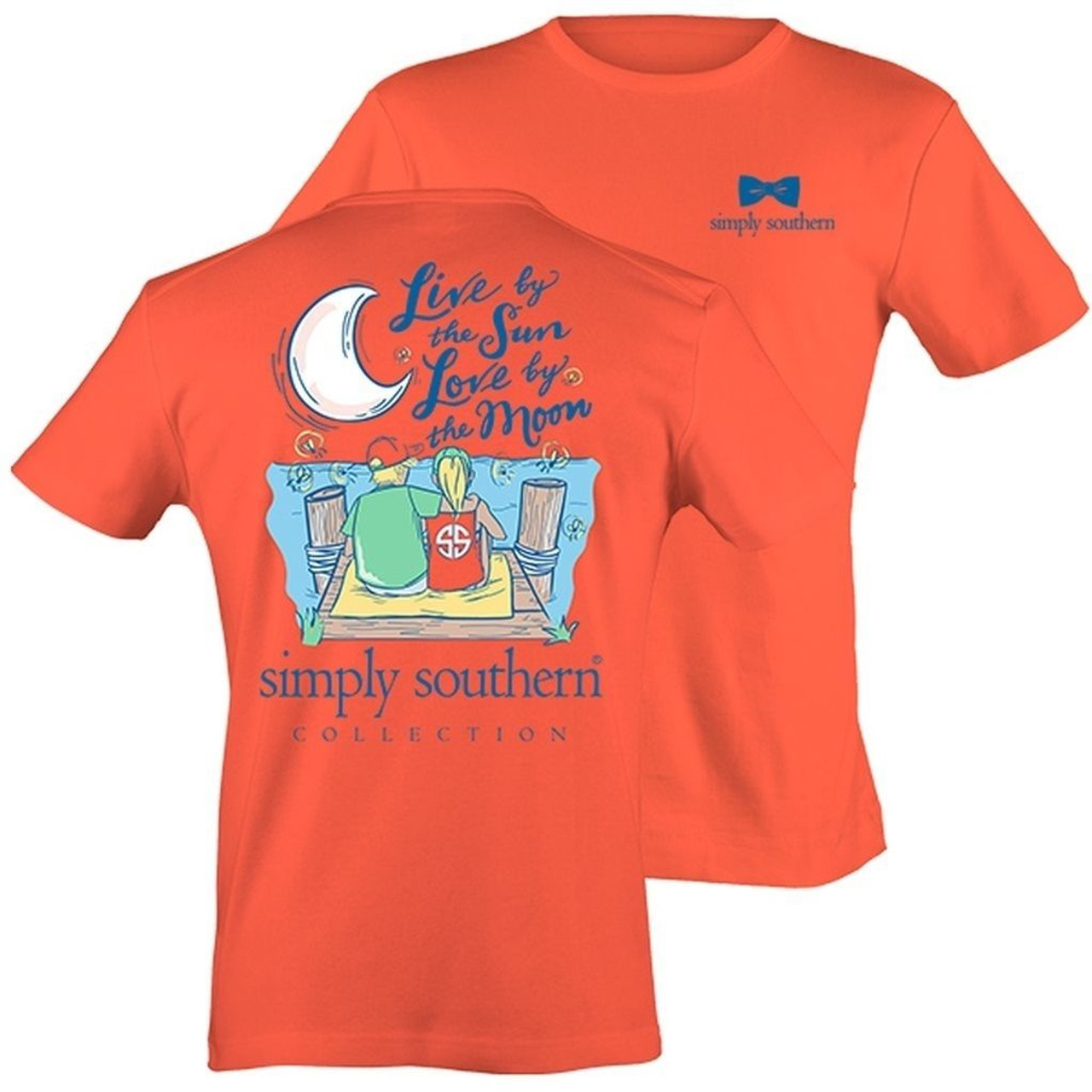 8a30ab6e7a9270 Simply Southern Live By The Sun Love By The Moon w Boy   Girl Cotton ...