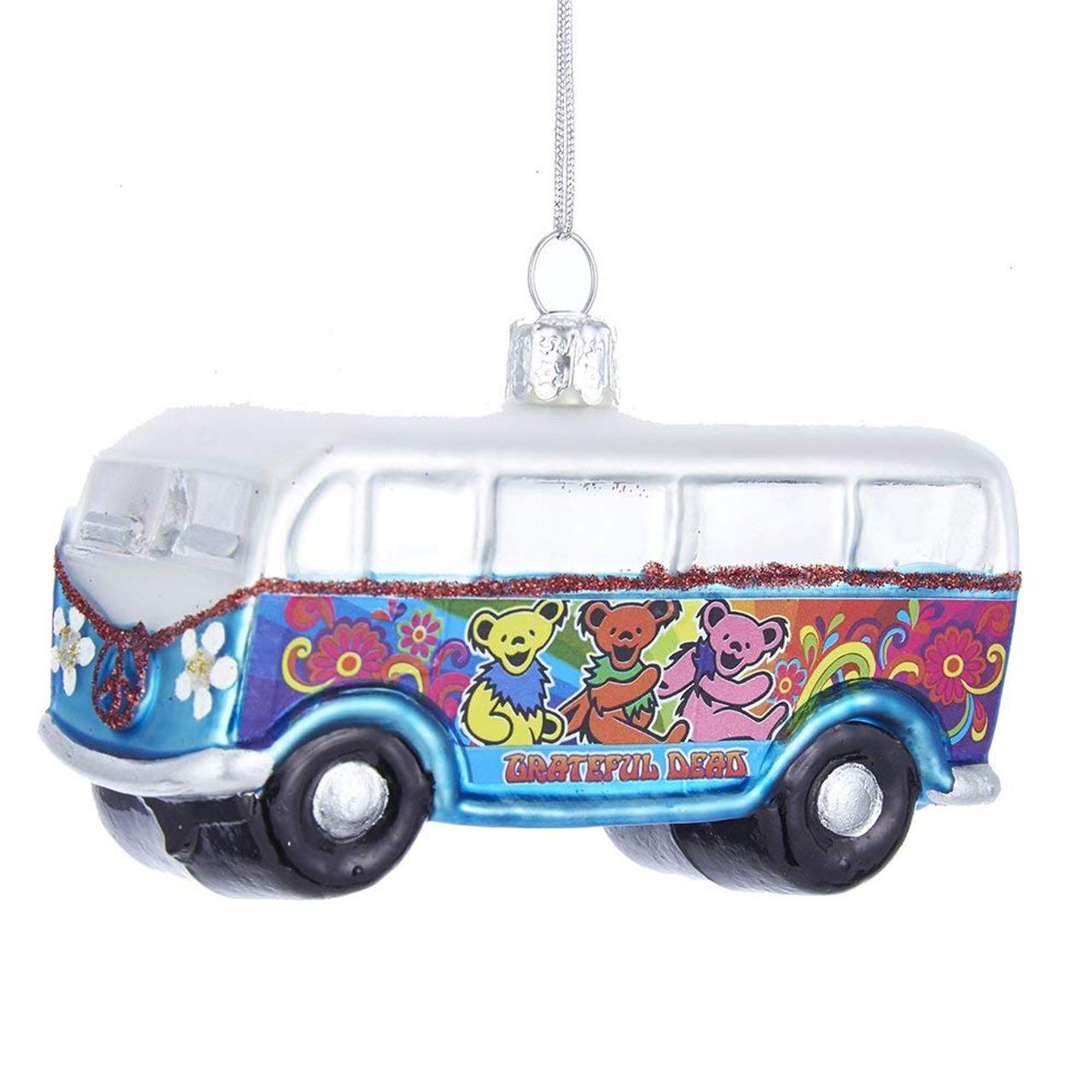 Grateful Dead Christmas Ornament.Grateful Dead Vw Van Dancing Bear Bus Christmas Tree Ornament