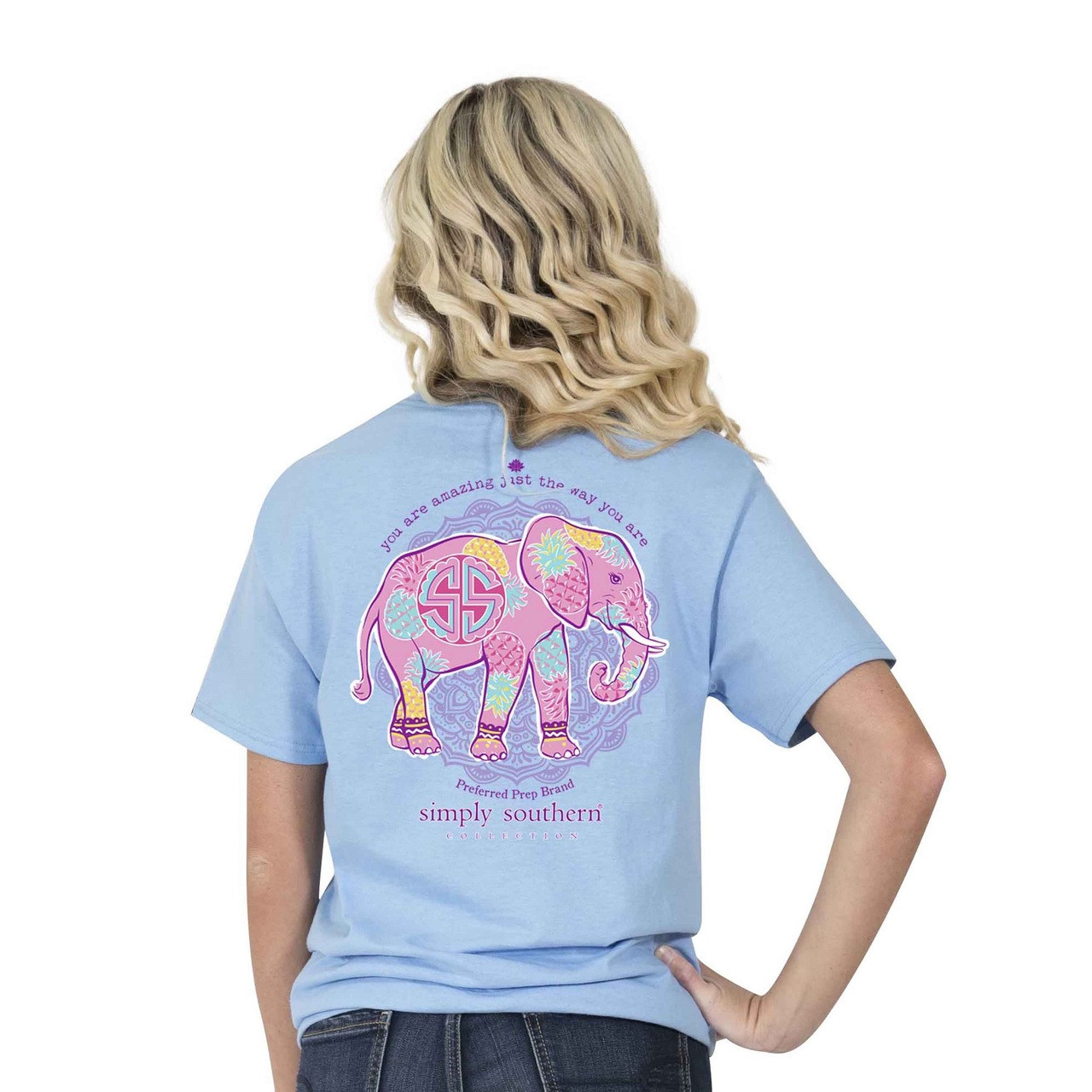 4c9e93c5c4609 You Are Amazing Elephant Pineapple Simply Southern Tee Shirt ...