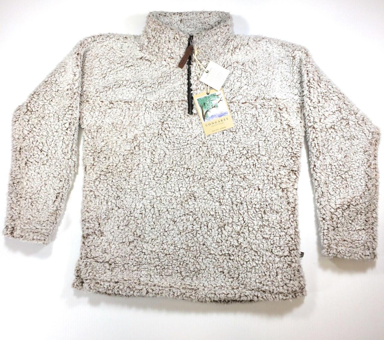 Catawba Pullover Sherpa Fleece 14 Zip Chestnut LARGE