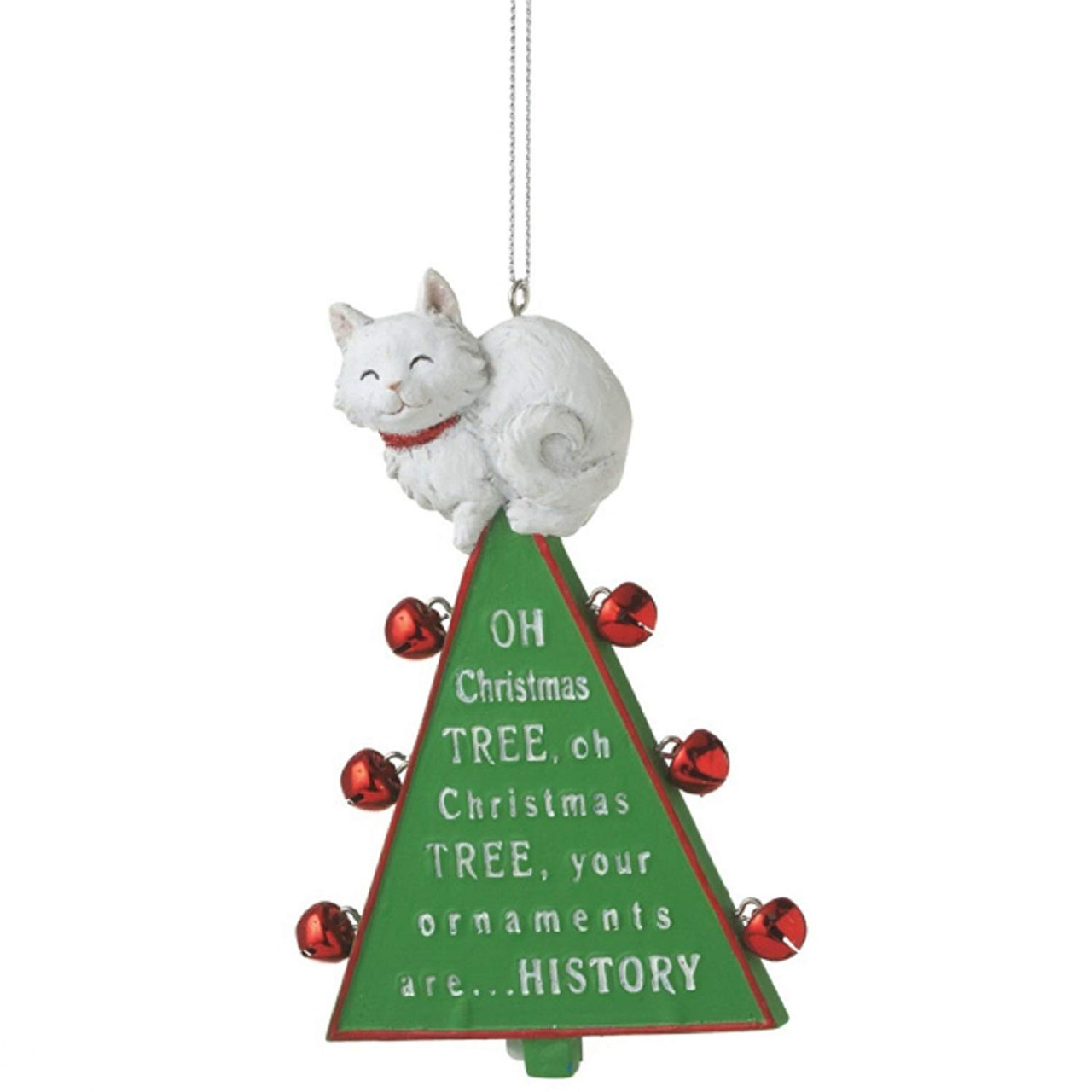 Oh Christmas Tree Cat Resin Christmas Ornament