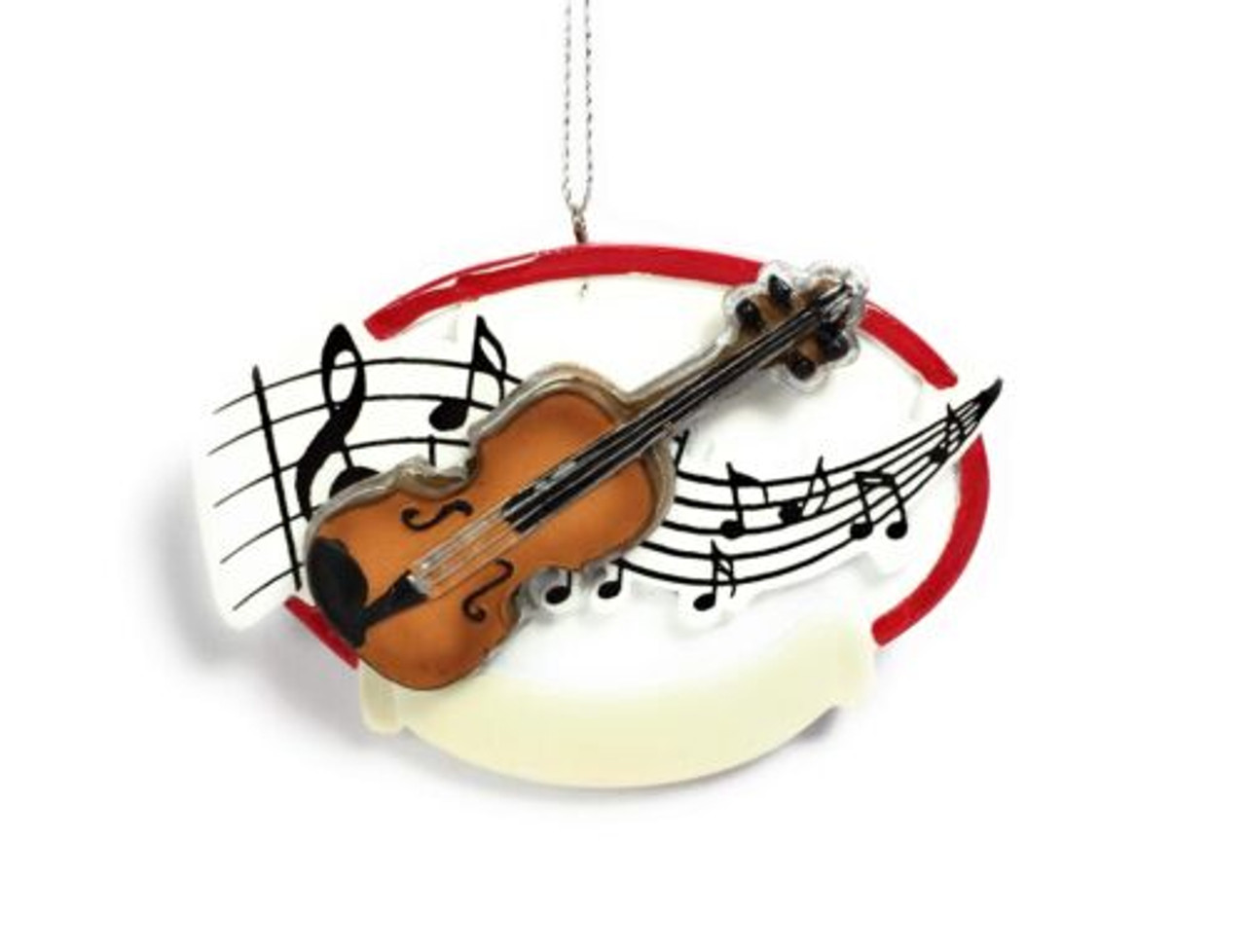 Violin Musical Notes 3.6 x 3 Inch Resin Christmas Ornament Figurine