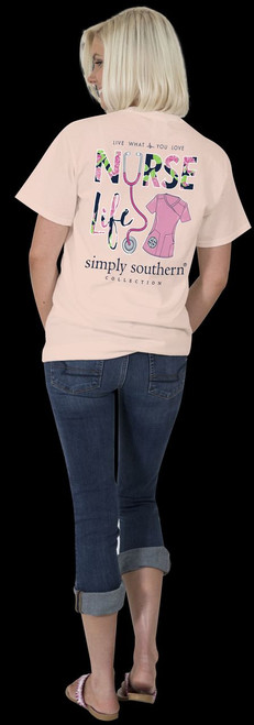 11a142c83ada7 Nurse Life Live What You Love Simply Southern Tee Shirt