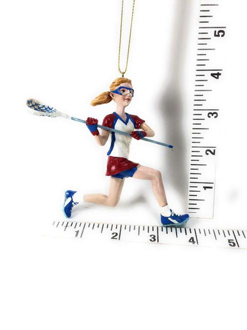 Kurt Adler Resin Lacrosse Boy Ornament