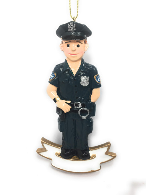 Police Christmas Ornaments.2pc Police Officer Male Female 4 25 Christmas Tree Ornaments