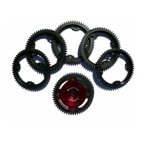 Vertigo Monster Locker Gear Hub Steel Spur Gears - Losi 5ive-T