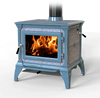 HearthStone Castleton Wood Stove in Seafoam