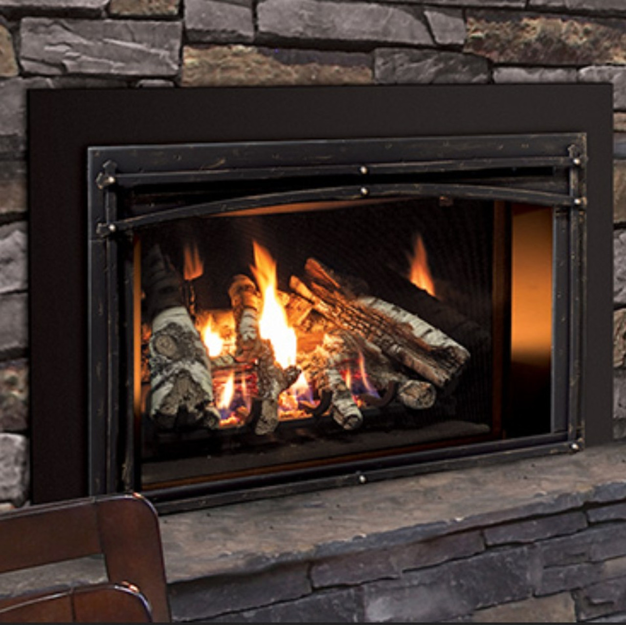 Enviro E33 Medium Gas Insert w/Forgeworks surround