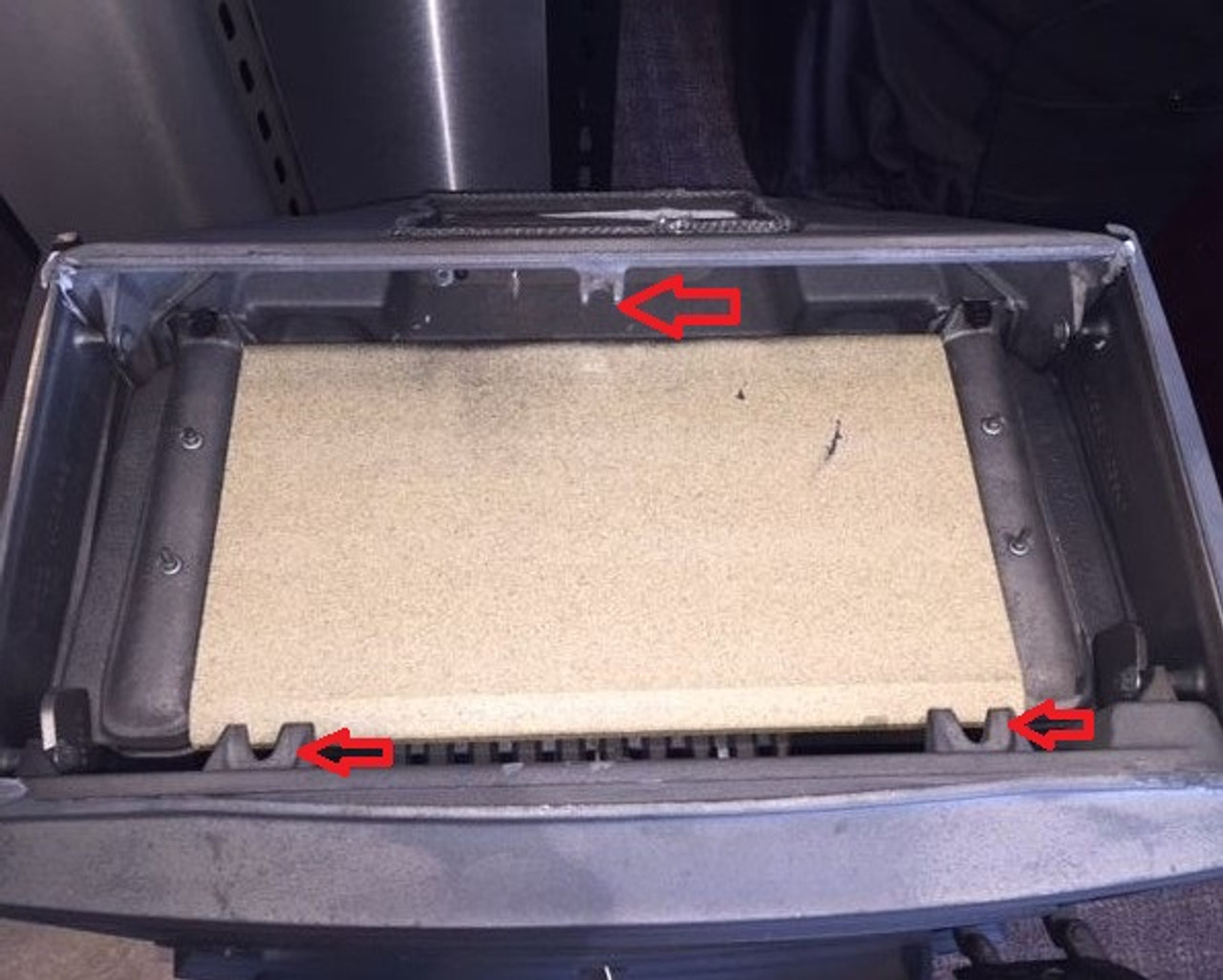 Jotul F500 Wood stove  220460 F500 Vermiculite Baffle