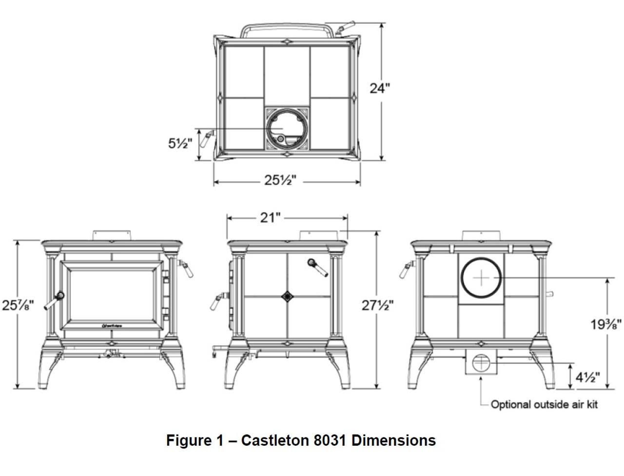 Hearthstone Castleton 8031 Specs