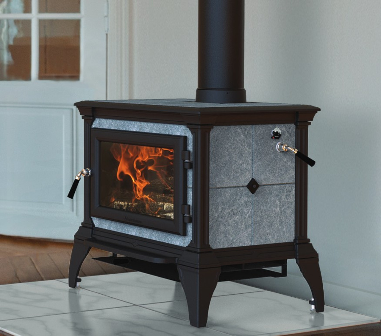HearthStone Castleton 1 Wood Stove 8031 in Matte Black